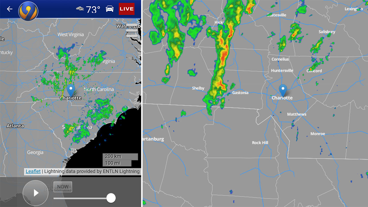 CHARLOTTE WEATHER RADAR: Get Charlotte's only live local
