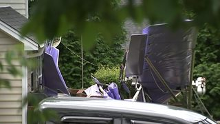 IMAGES: Ultralight plane crashes into Mint Hill home