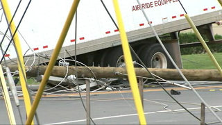 STEELE CREEK CRASH: Tractor-trailer breaks in half after