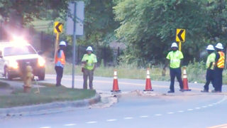 Water main break, possible sinkhole shut down road in southeast Charlotte