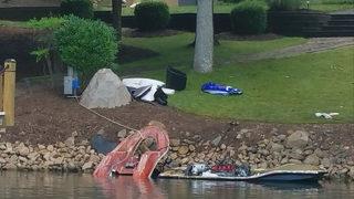 LAKE NORMAN JET SKI EXPLOSION: Witness jumps into Lake