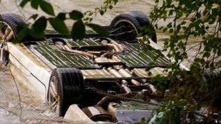 IMAGES: Pricey Jaguar pulled from Broad River