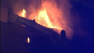 IMAGES: Flames rip through east Charlotte apartments