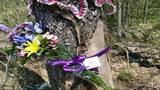 Roadside memorial for 2 girls mysteriously vanishes