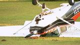 Pilot uninjured in small plane crash along busy Matthews road