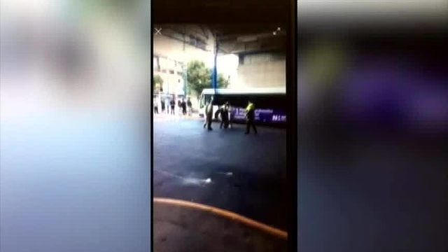 Image result for Video shows security officer punch man at transit center uptown