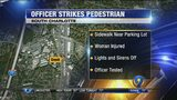 Investigation underway after woman reports being hit by CMPD patrol car, officials say