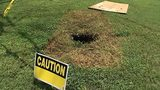 Lincolnton woman says city storm drain caused sinkhole in her front yard