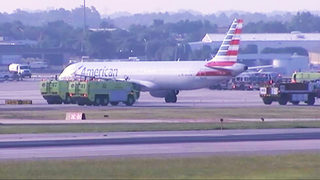 IMAGES: Plane lands at Charlotte Douglas after reported engine problem