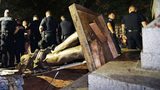 Protesters topple Confederate statue 'Silent Sam' on UNC campus