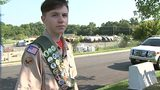 Cabarrus County Boy Scout honors K-9 units