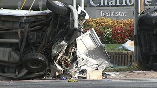 IMAGES: 2 killed in 3-car crash in southwest Charlotte | WSOC-TV