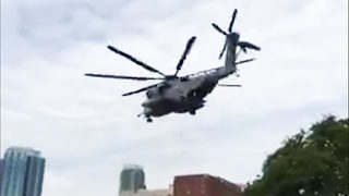 CHARLOTTE MARINE WEEK: Military aircraft land in uptown for Marine