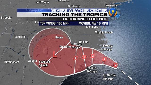 HURRICANE FLORENCE UPDATES: Fierce Category 2 hurricane aims