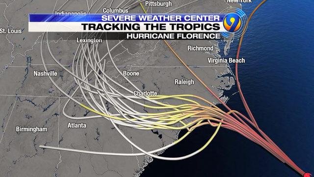 hurricane florence updates \u0027monster\u0027 hurricane\u0027s track shifts Simple Electrical Wiring Diagrams