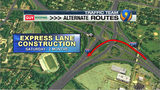 Toll lane project to close southbound I-77 ramp near uptown for months
