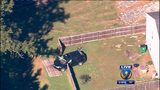 Abandoned, stolen vehicle smashes through backyard fence in north Charlotte
