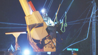 Power restored more than 12 hours after crash downed lines in Matthews