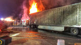Drivers stuck for hours after tractor-trailer fire shuts down I-77 in Huntersville