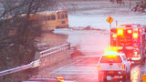 Emergency crews pull school bus from Cabarrus County floodwaters