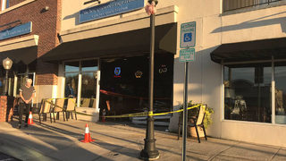 Concord sports bar remains open after car smashes through building