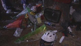 SLIDESHOW: Classmates mourn death of student at crash site