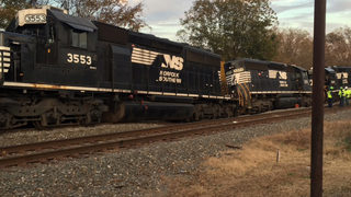 Hazmat crews respond after train derails in Salisbury