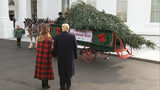 Trump, first lady accept official White House Christmas tree from NC