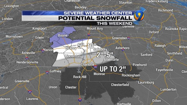 Charlotte Winter Storm Live Updates Tracking Snow Falling In