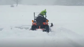 WATCH: The Grinch plows snow in Boone