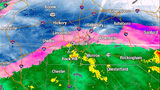 TRACKING: Frozen precipitation moves into area