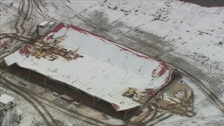 Weight of snow, sleet causes arena roof collapse killing 3 horses