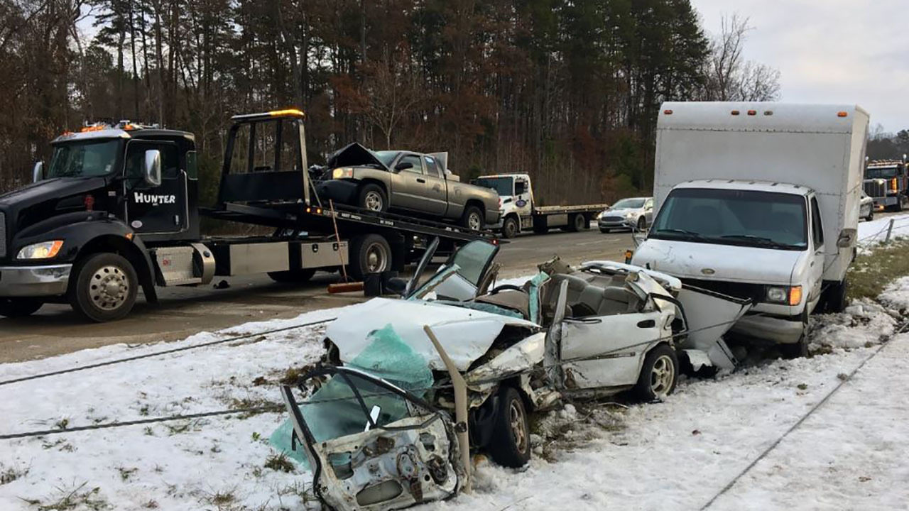 Troopers: Speed, ice on roadway caused serious 3-car crash