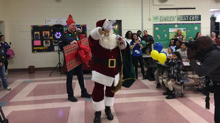 CMS students who are homeless treated to holiday bash