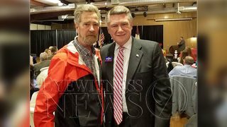 Photo shows Mark Harris and man at center of election fraud investigation together