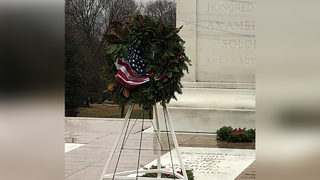 Wreath decorated in Cornelius delivered to Arlington National Cemetery