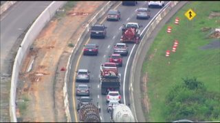 State officials address safety concerns along I-77 toll lane project