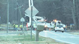 Crash takes out power pole in Mint Hill, will block busy road all day