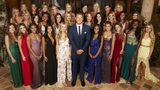 """Colton Underwood surrounded by Season 23 contestants on """"The Bachelor"""""""