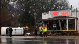 Car slams into southeast Charlotte restaurant; 4th time business was struck