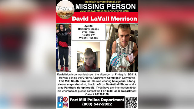 0da40cfb543 MISSING FORT MILL BOY: 16-year-old boy reported missing from Fort ...