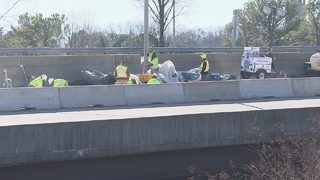 Construction on I-277 creates headache for drivers during peak traffic hours