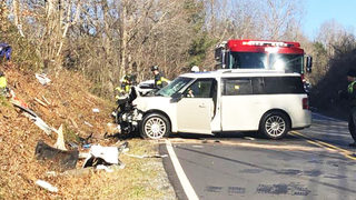 Driver reaches 110 mph in chase before crashing in Caldwell County, officials say