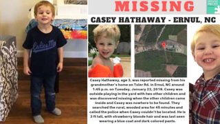 Casey Hathaway missing: FBI, state officials join effort to find missing NC 3-year-old