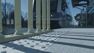 How will a new rail line run from Matthews through uptown Charlotte?