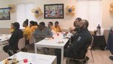 West Charlotte church thanks police officers with catered lunch