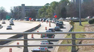Construction to pick back up on I-277, closing lanes