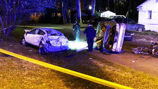 GALLERY: Busy east Charlotte road closed following stabbing, crash, house fire