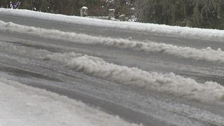 Mountain communities deal with slick roads, school cancellations