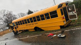 School bus carrying more than 20 students crashes with dump truck in Gaston County